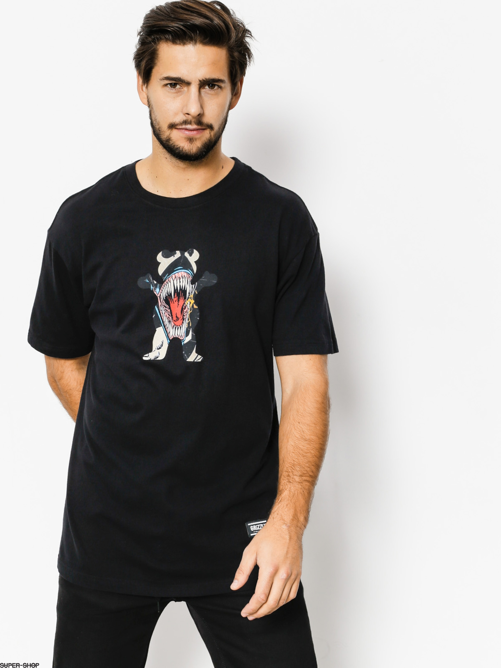 Grizzly Griptape T-shirt Grizzly X Venom Og Bear (black)