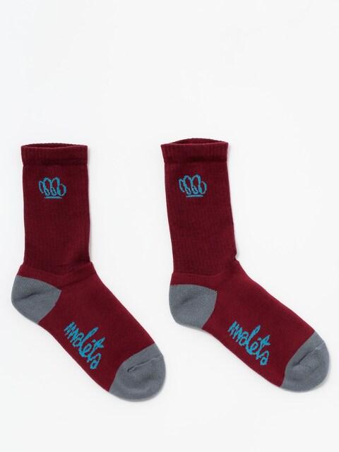 Malita Socks Yoda (maroon/grey)