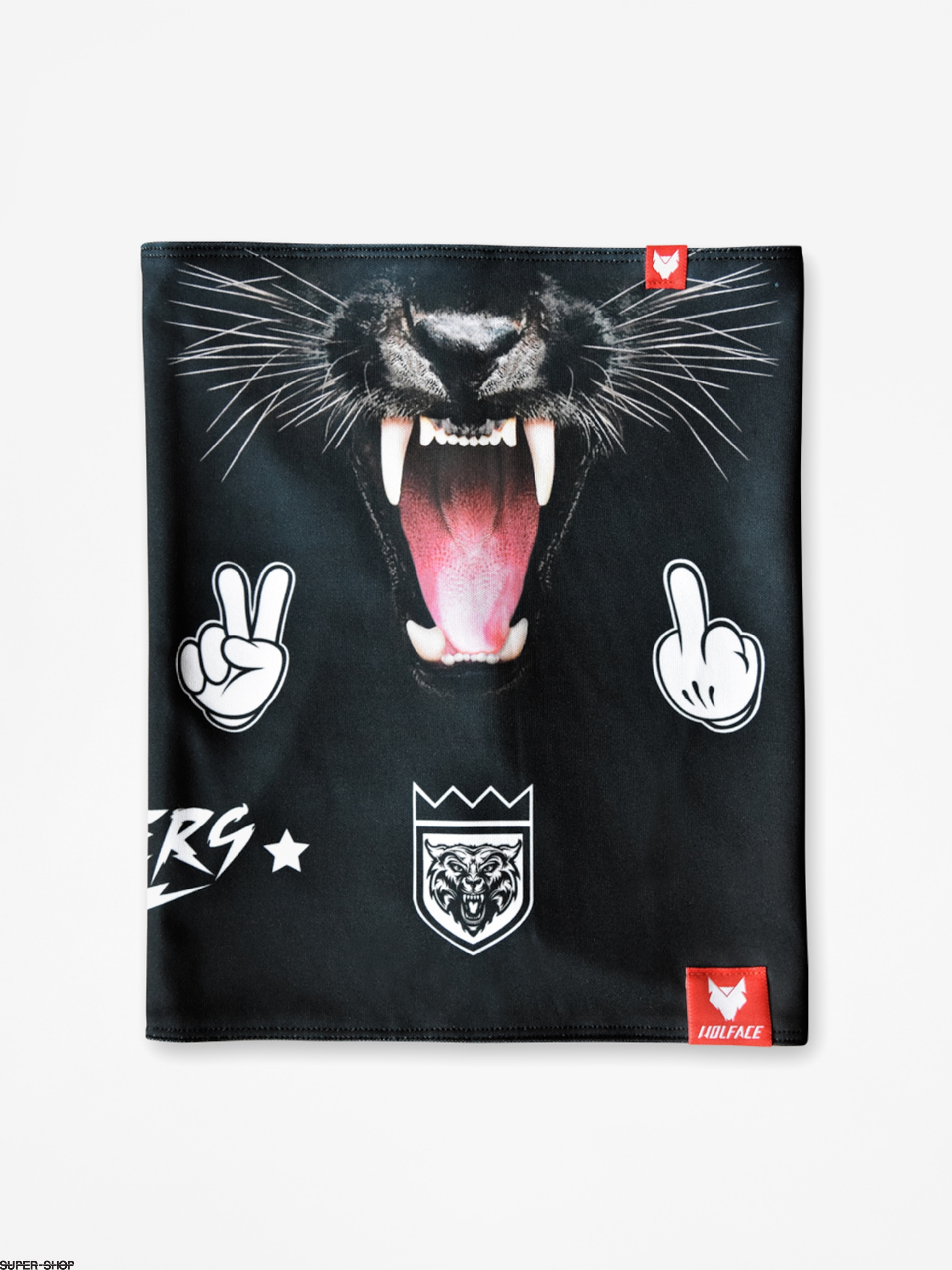 Wolface Neckwarmer Black Panther