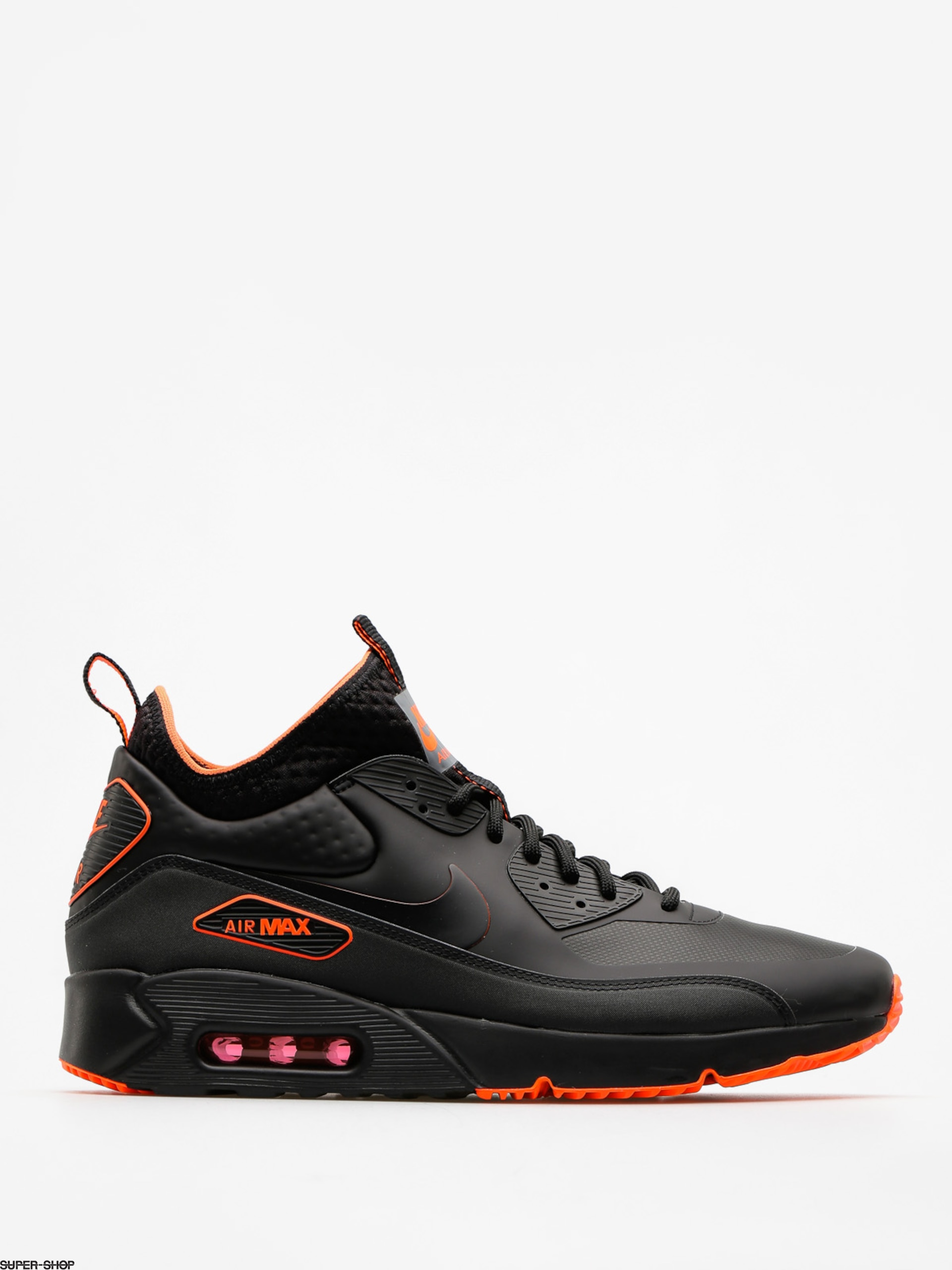 Nike Shoes Air Max 90 Ultra Mid Winter Se (black/black total crimson cool grey)