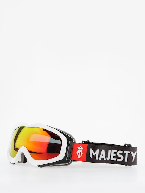 Majesty Goggles Patrol (glossy white/red ruby mirror/clear amber)