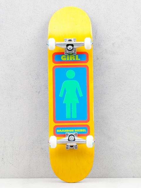 Girl Skateboard Skateboard Biebel 93 (yellow/green)