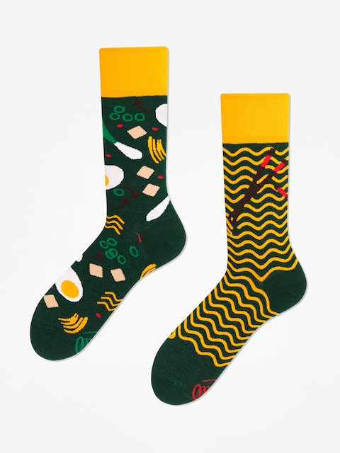 Many Mornings Socks Ramen Noodles (green/yellow)