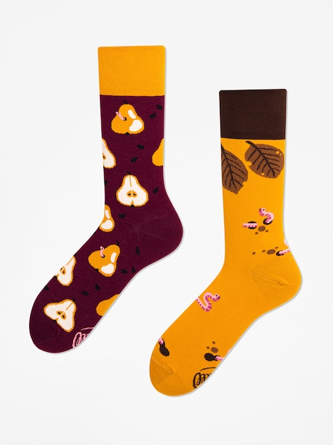 Many Mornings Socken Pear Pair (maroon/mustard)