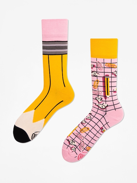 Many Mornings Socken Paperwork (yellow/pink)