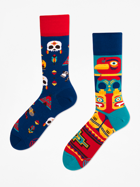 Many Mornings Socken Apache Tribe (blue/multicolor)