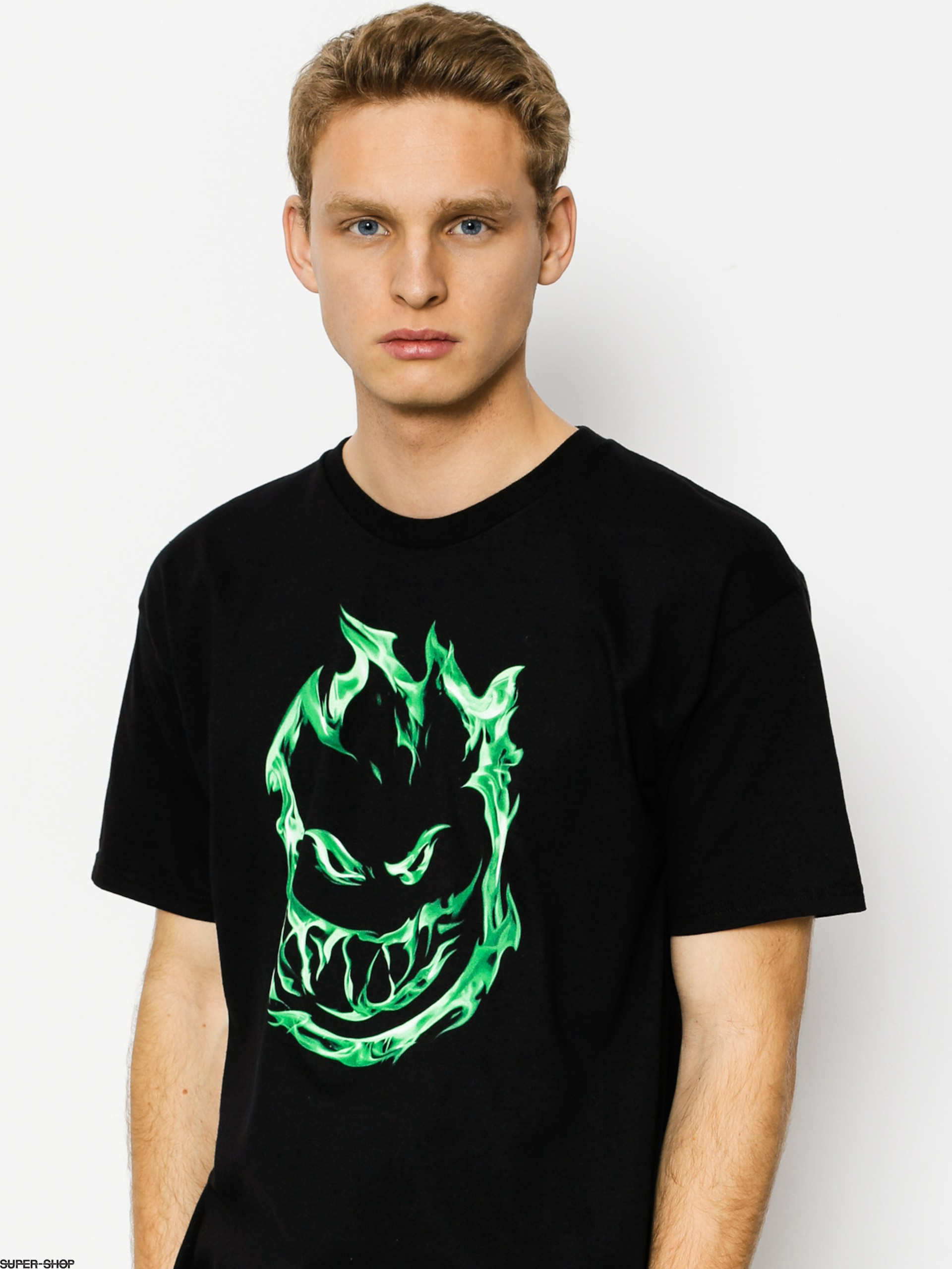 Spitfire T-shirt 451 (black/green)