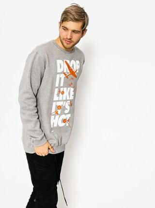 Diamante Wear Sweatshirt Drop It Like It Hot (grey)