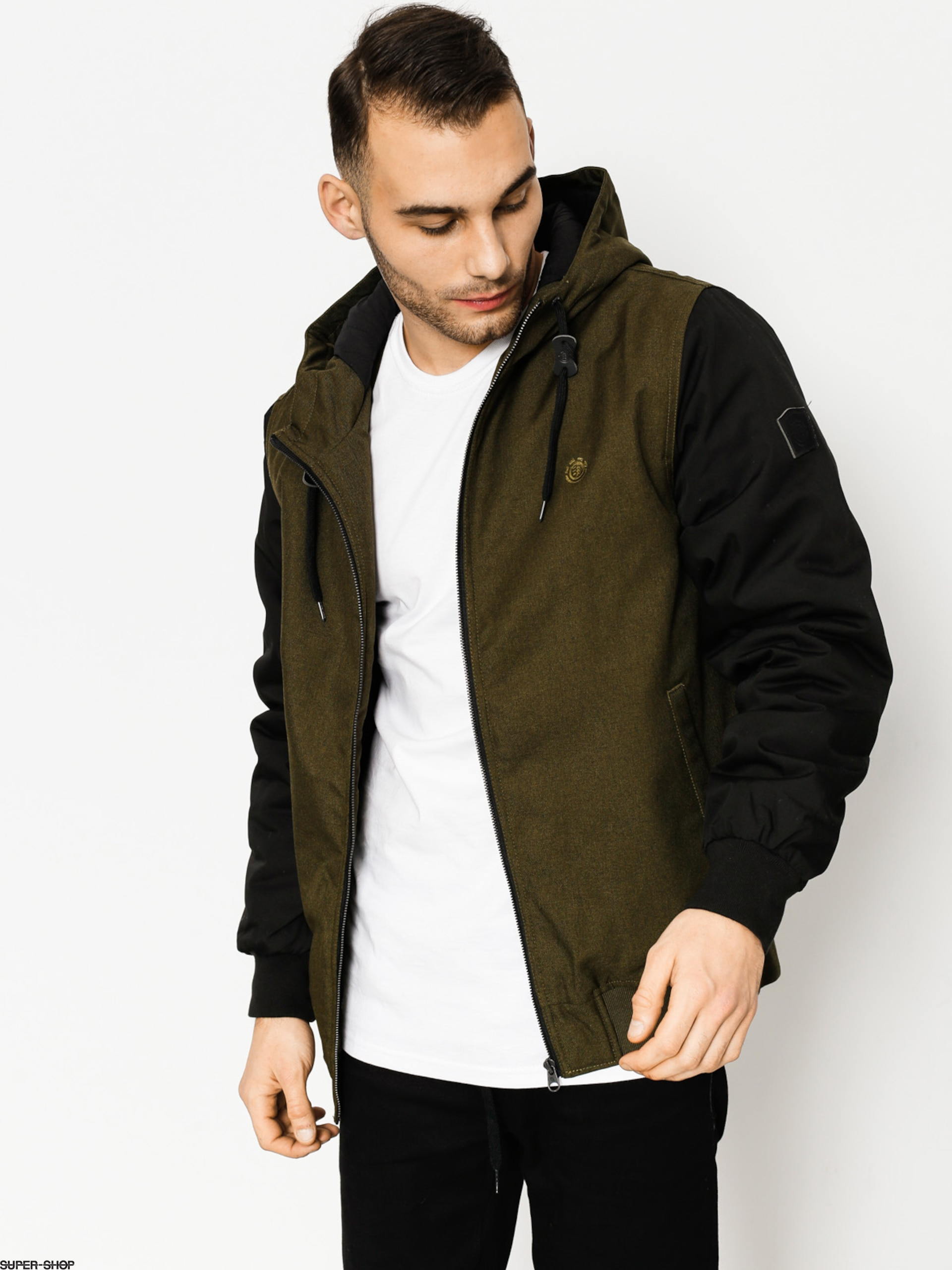 Element Jacket Dulcey (blk mos gr htr)