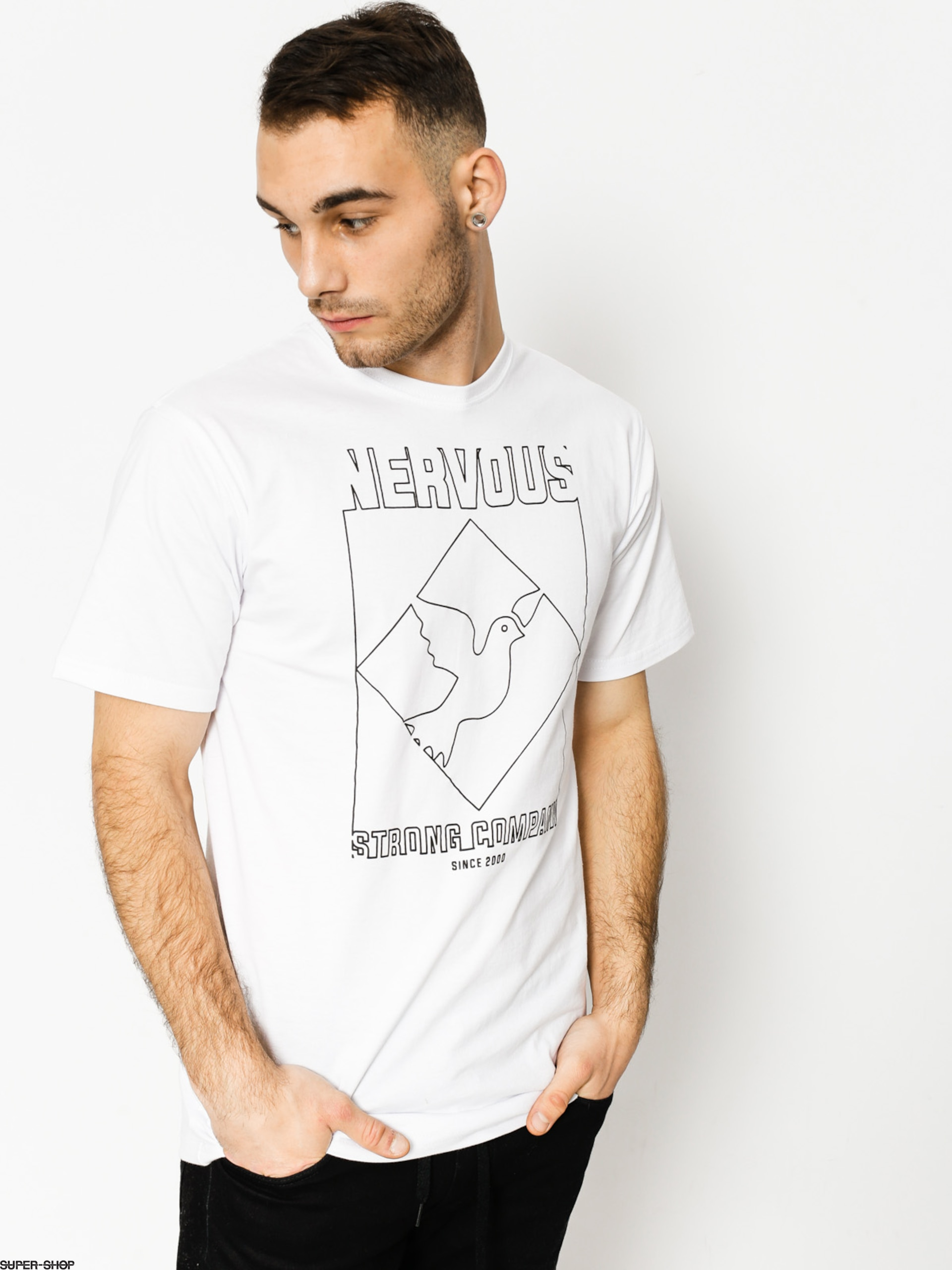 Nervous T-Shirt Wire (white)