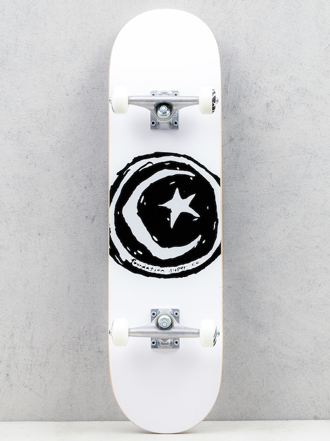 Foundation Skateboard Star And Moon (white)