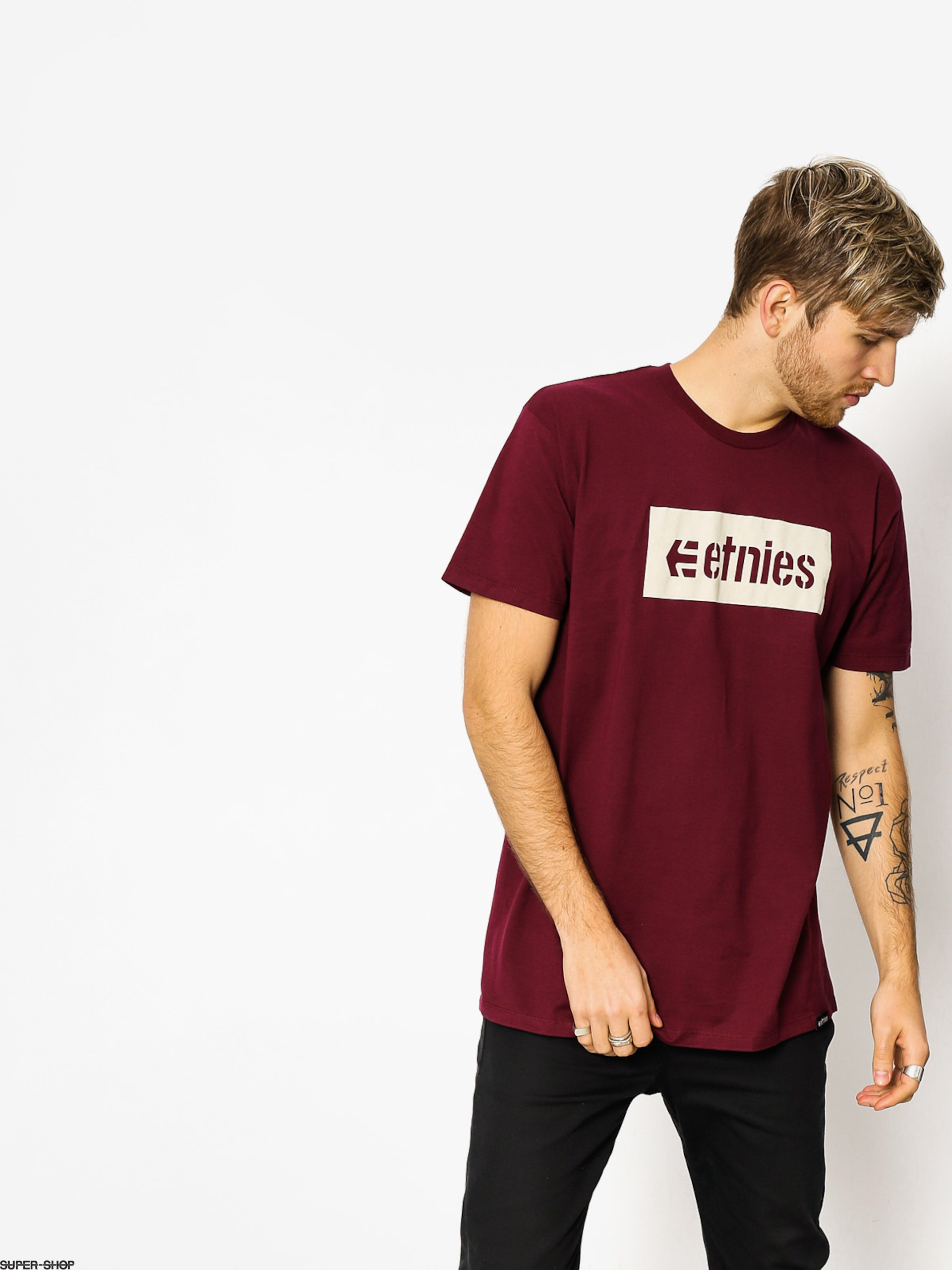 Etnies T-shirt Corp Box (burgundy)