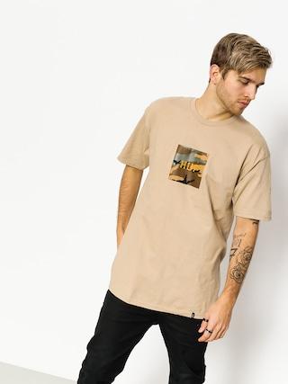 HUF T-shirt Ambush Camo Box Logo (sand)