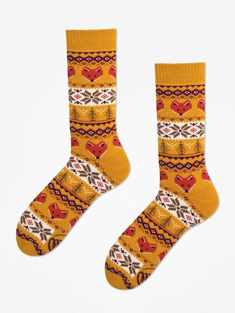Many Mornings Socks Warm Fox (mustard)
