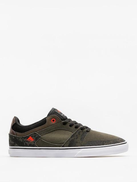 Emerica Shoes The Hsu Low Vulc (green/black/white)