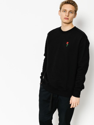 Nervous Sweatshirt Rose Icon (black)