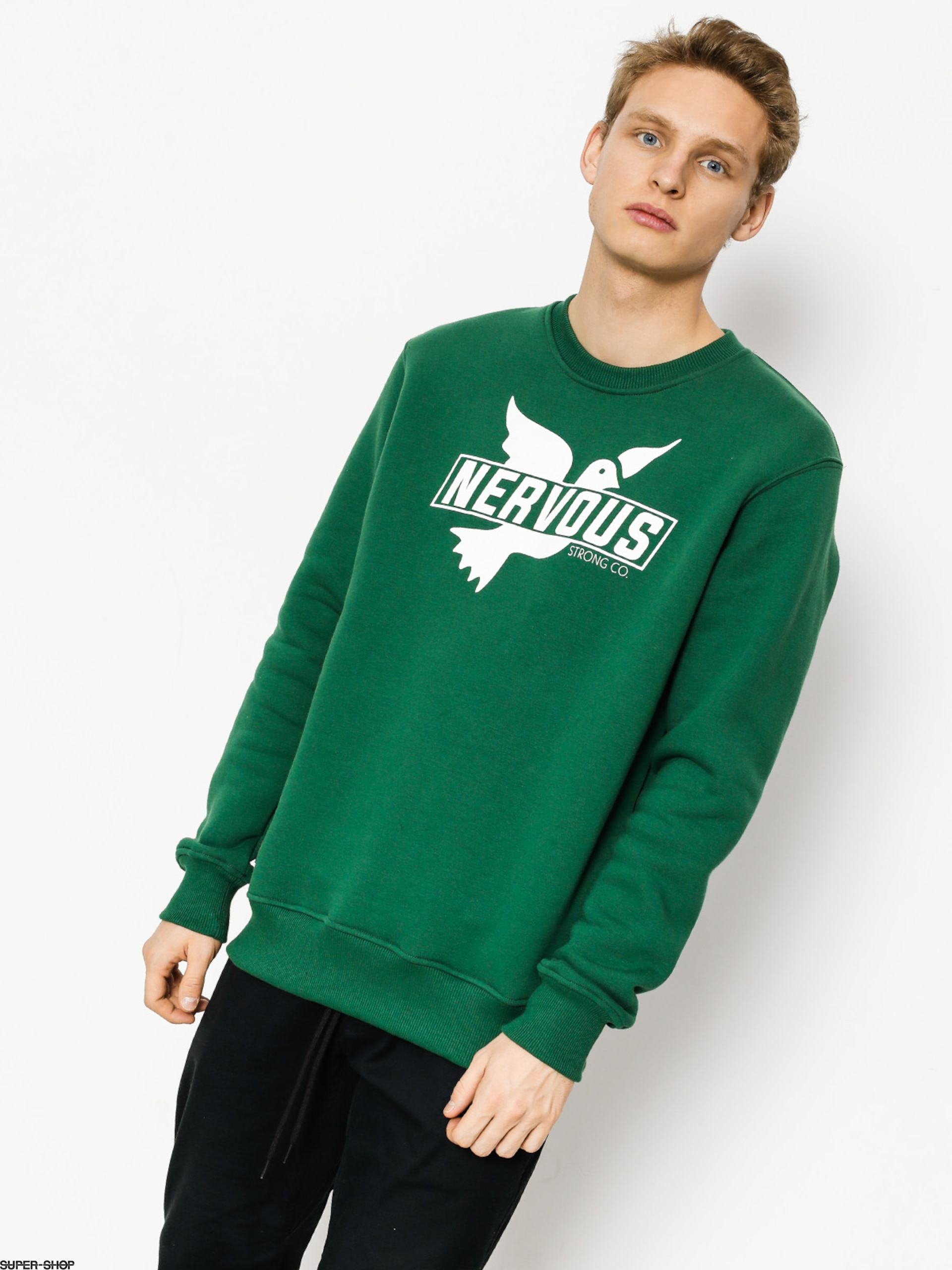 Nervous Sweatshirt Sticker Bottle (green)