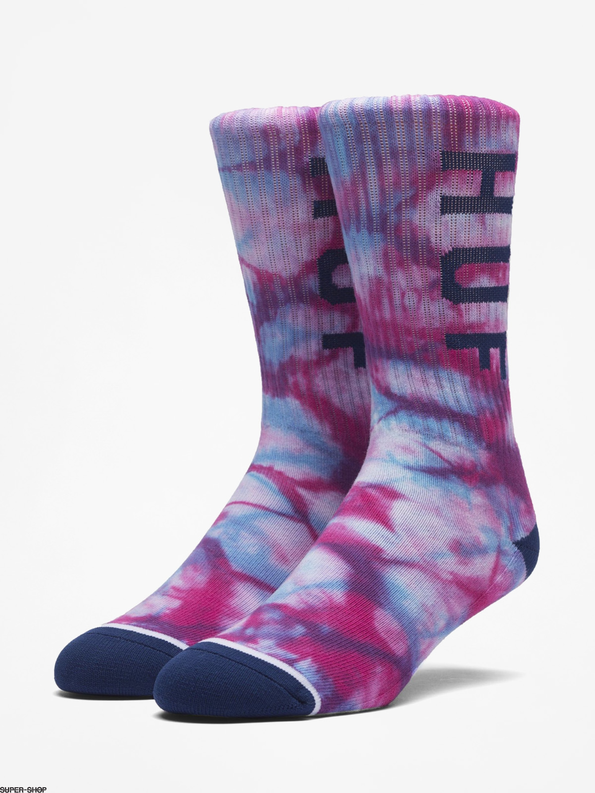 HUF Socken Og Logo Tie Dye Sock (purple)