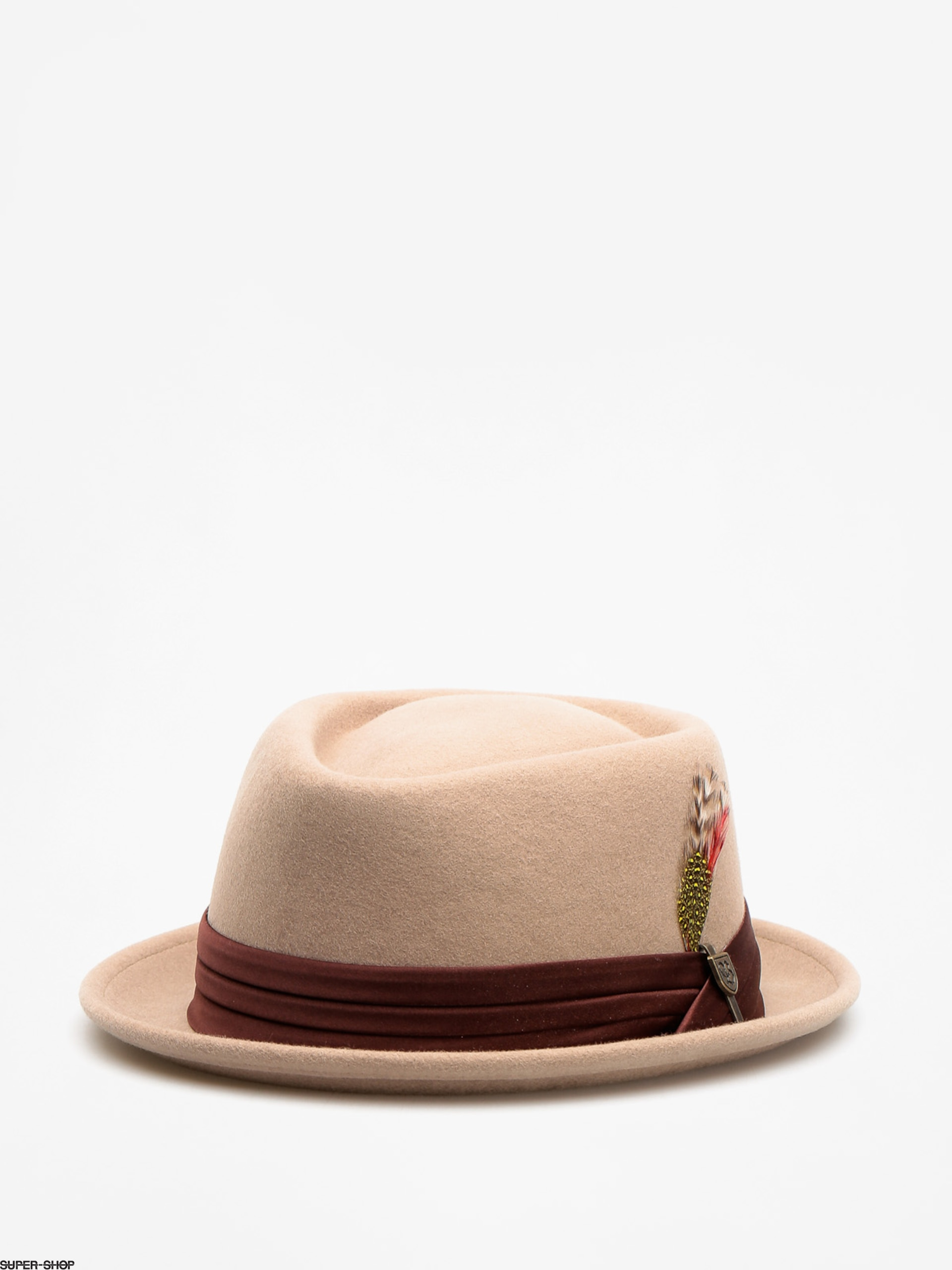 Brixton Hat Stout Pork Pie (light tan/brown)