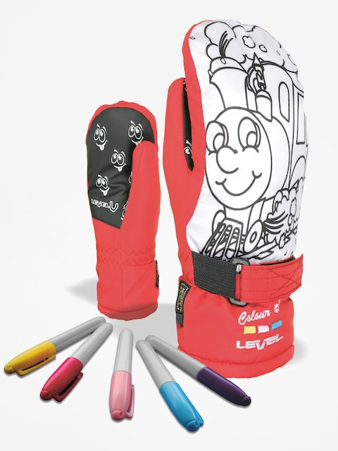 Level Handschuhe Pop Art Jr Mitt (red)