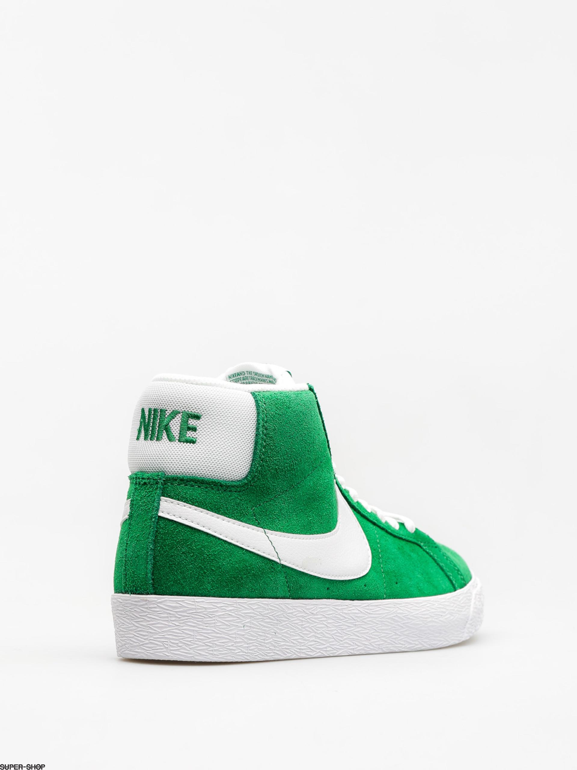 22bd2cfaa514bf Nike SB Shoes Zoom Blazer Mid (pine green white)
