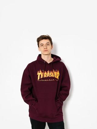 Thrasher Hoodie Flame HD (maroon)