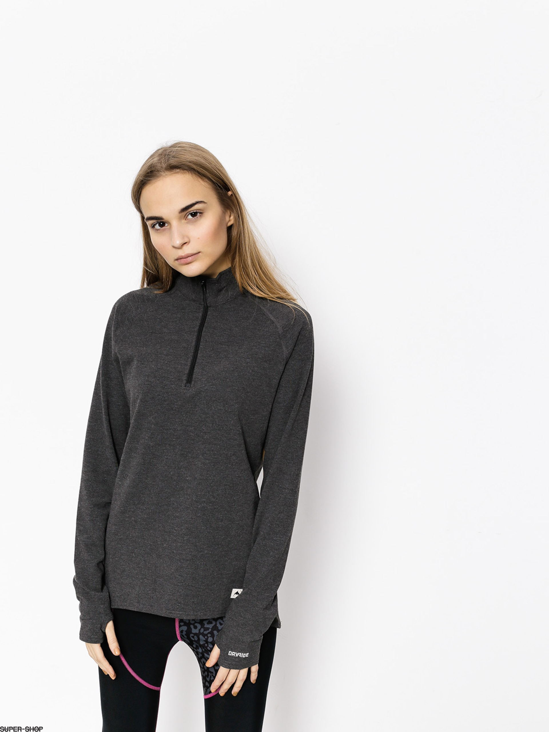 Burton Active longsleeve Expedition 1/4 Zip Wmn (true black heather)