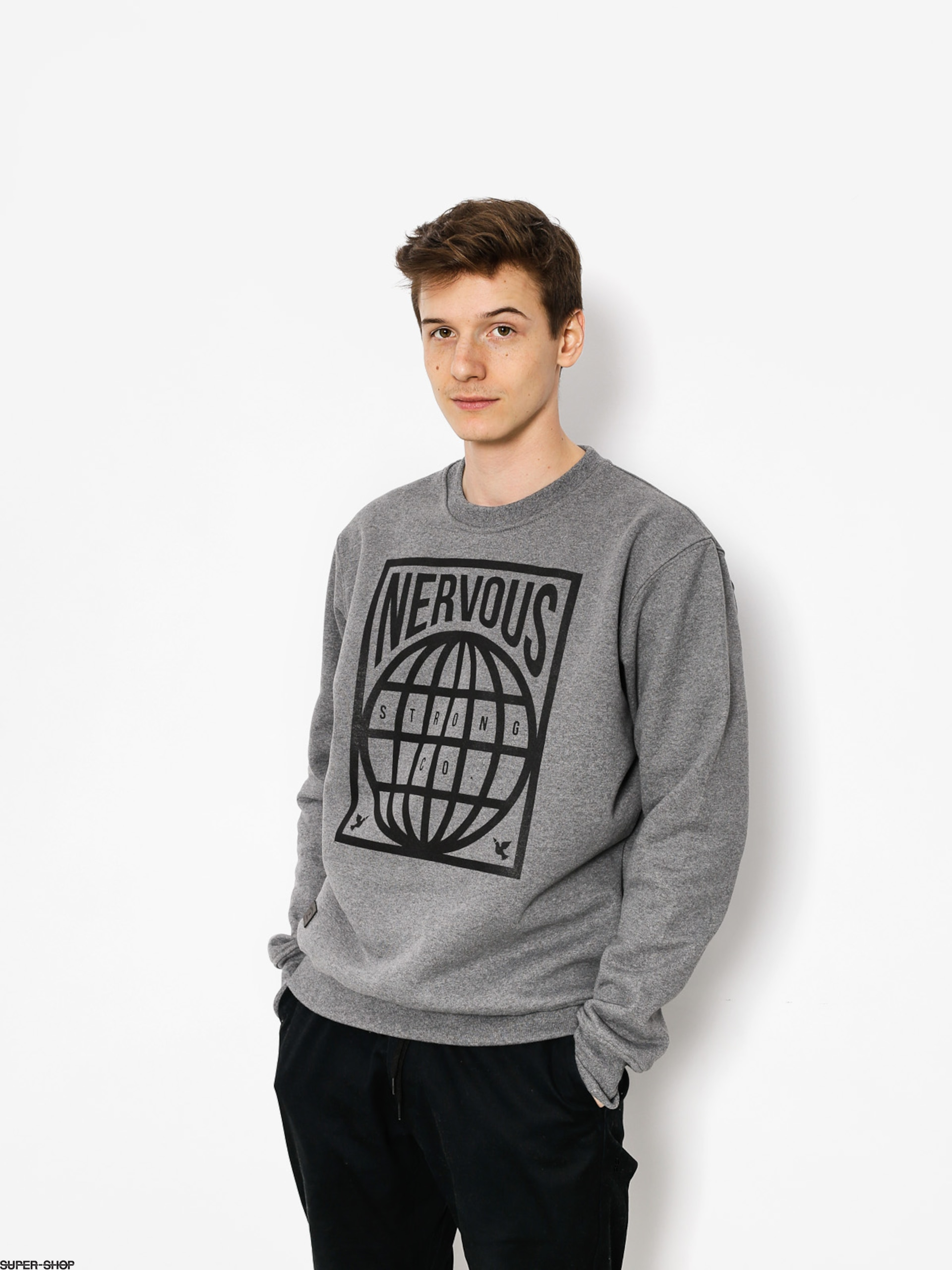Nervous Sweatshirt Map (grey)