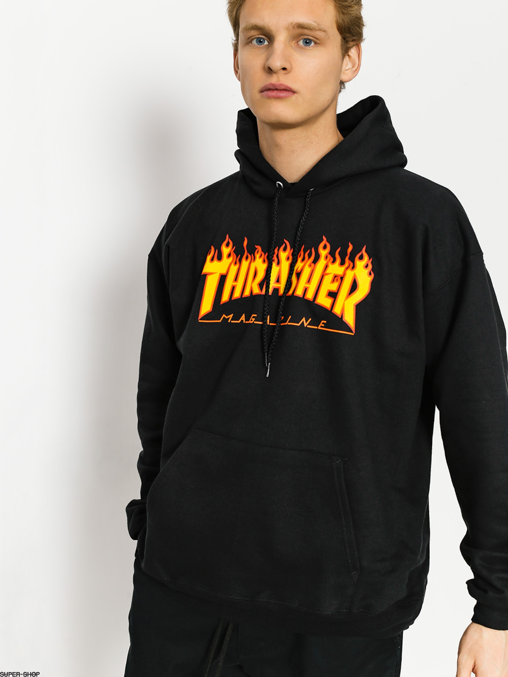 Thrasher Hoody Flame HD (black)