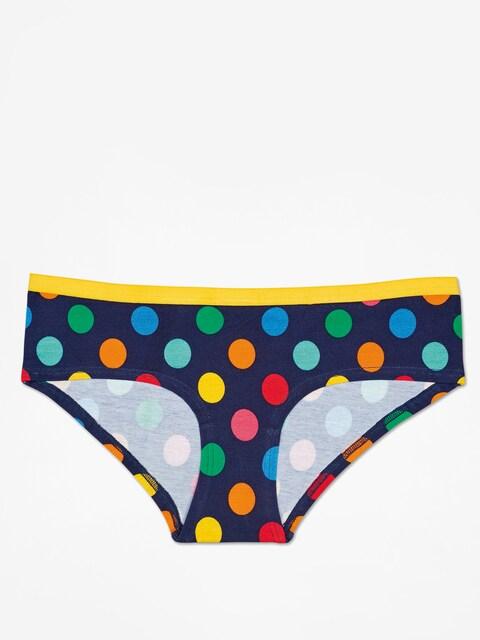 Happy Socks Underwear Big Dot Hipster Wmn (yellow/navy/multi)