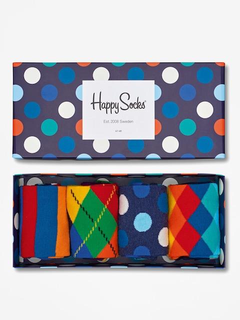Happy Socks Socks Giftbox 4pk (navy/blue/white)