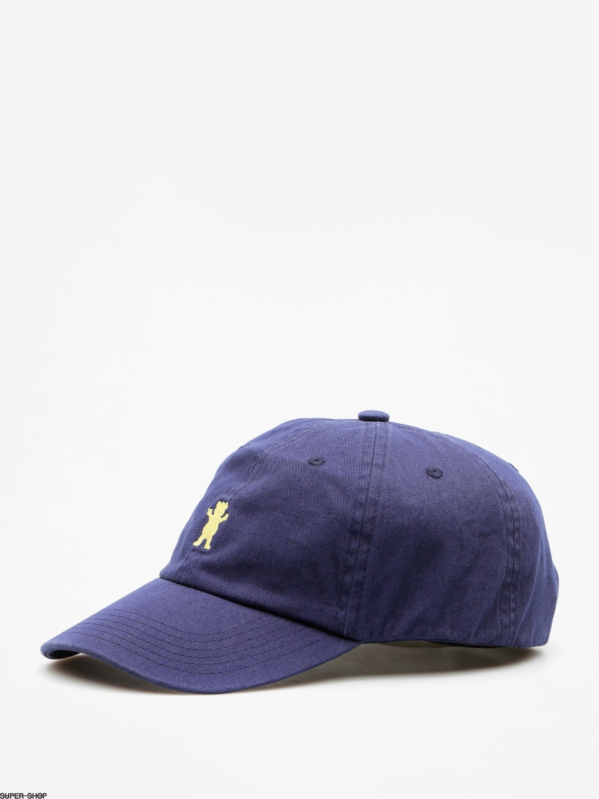 8207f349 Grizzly Griptape Cap Og Dad Bear Logo Hat (navy/yellow)