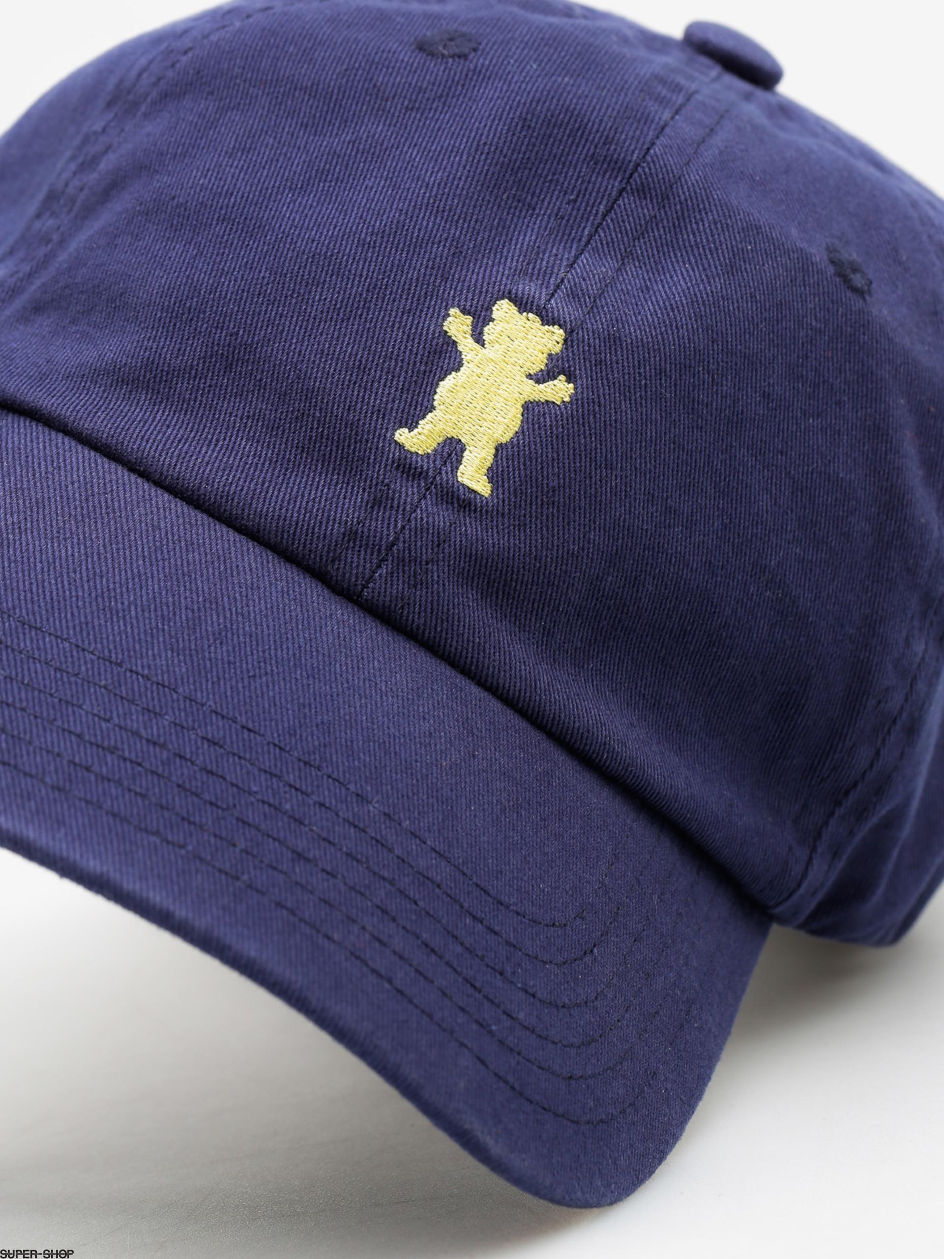 Grizzly Griptape Cap Og Dad Bear Logo Hat (navy yellow) 8e483ca746a2