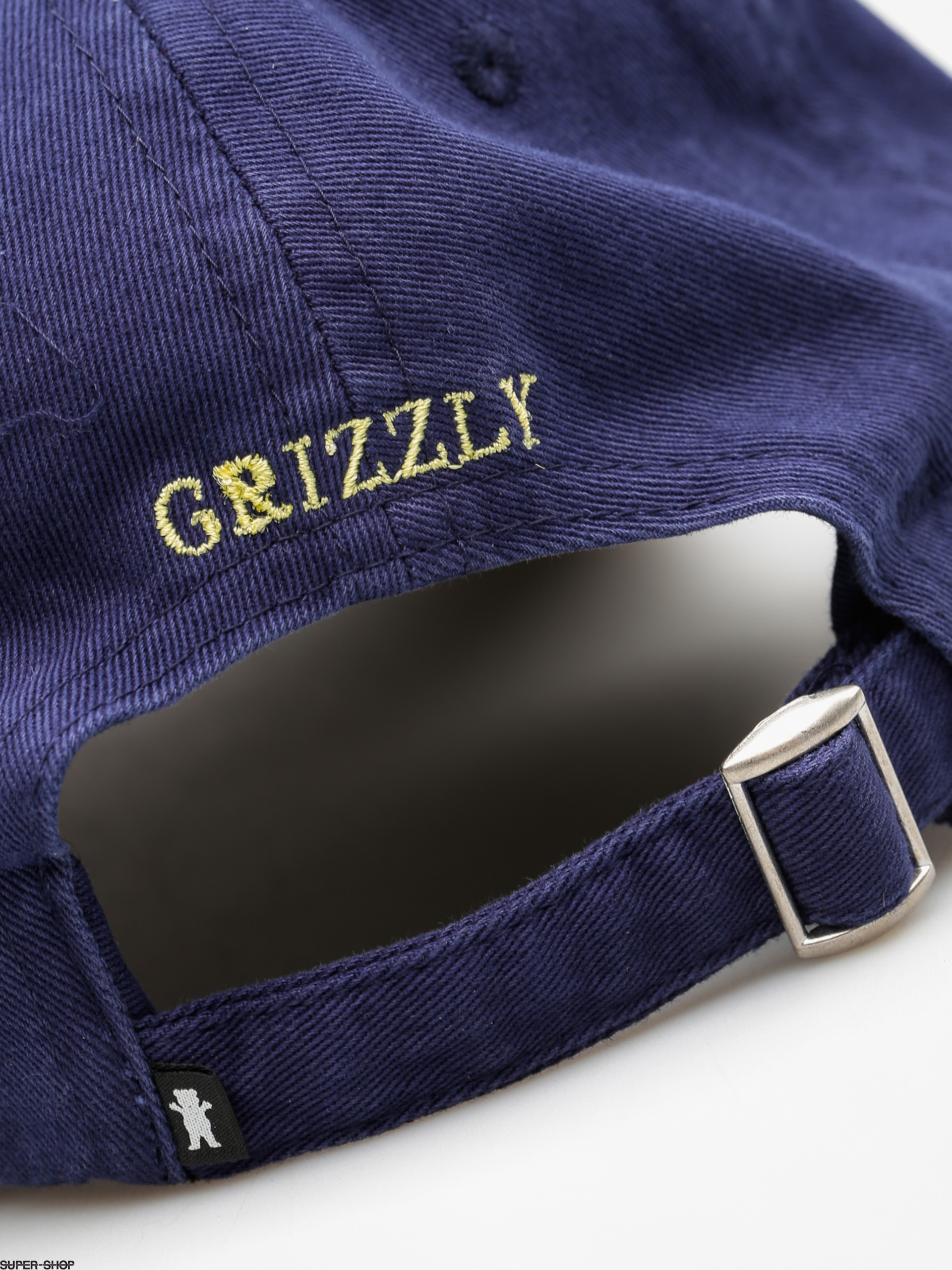 e70a5c05 Grizzly Griptape Cap Og Dad Bear Logo Hat (navy/yellow)