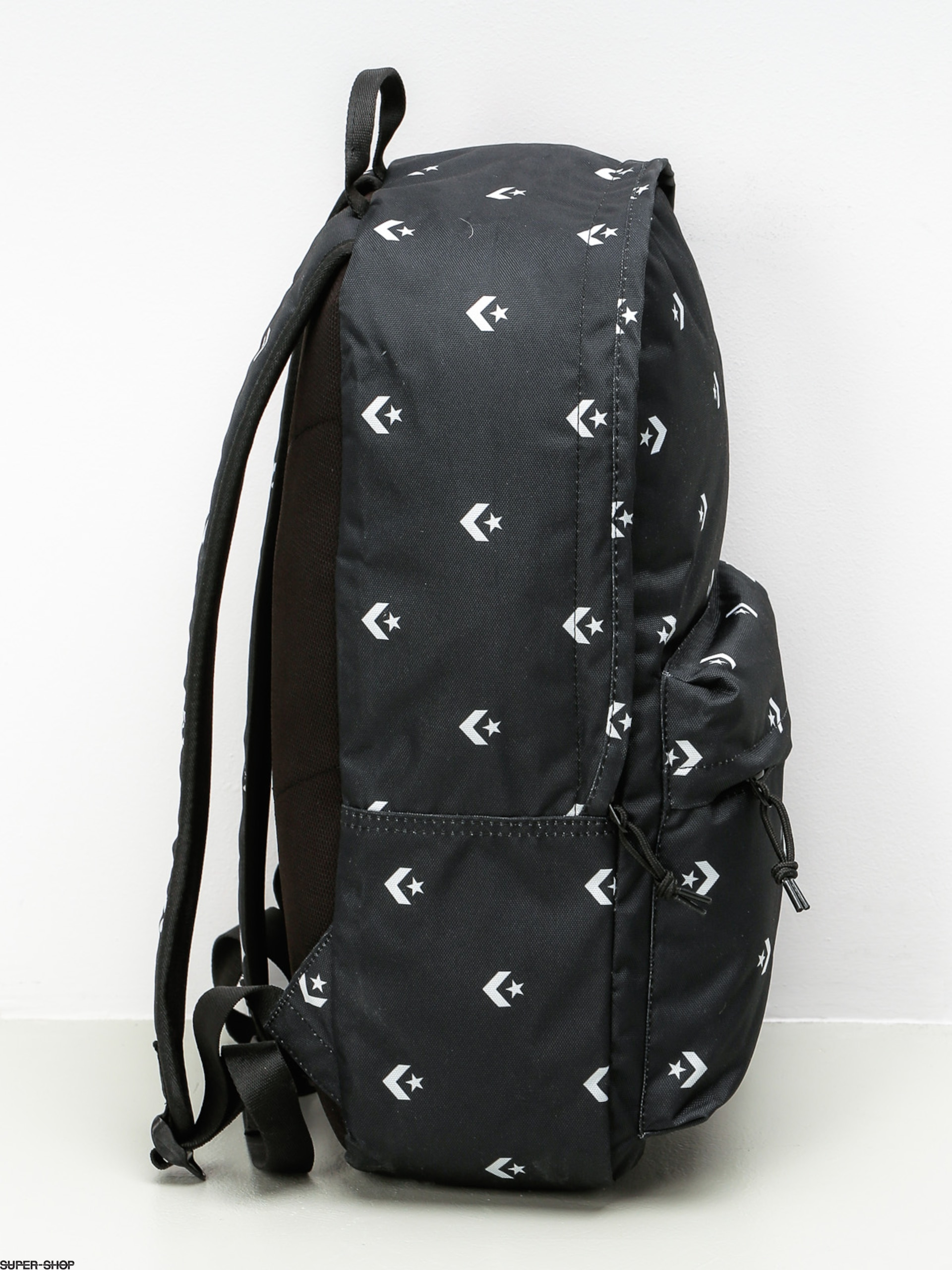 4d0efb66877c7 Converse Backpack Edc Poly (star chevron repeat black)