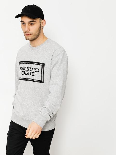 Backyard Cartel Sweatshirt Label Logo (light heather grey)
