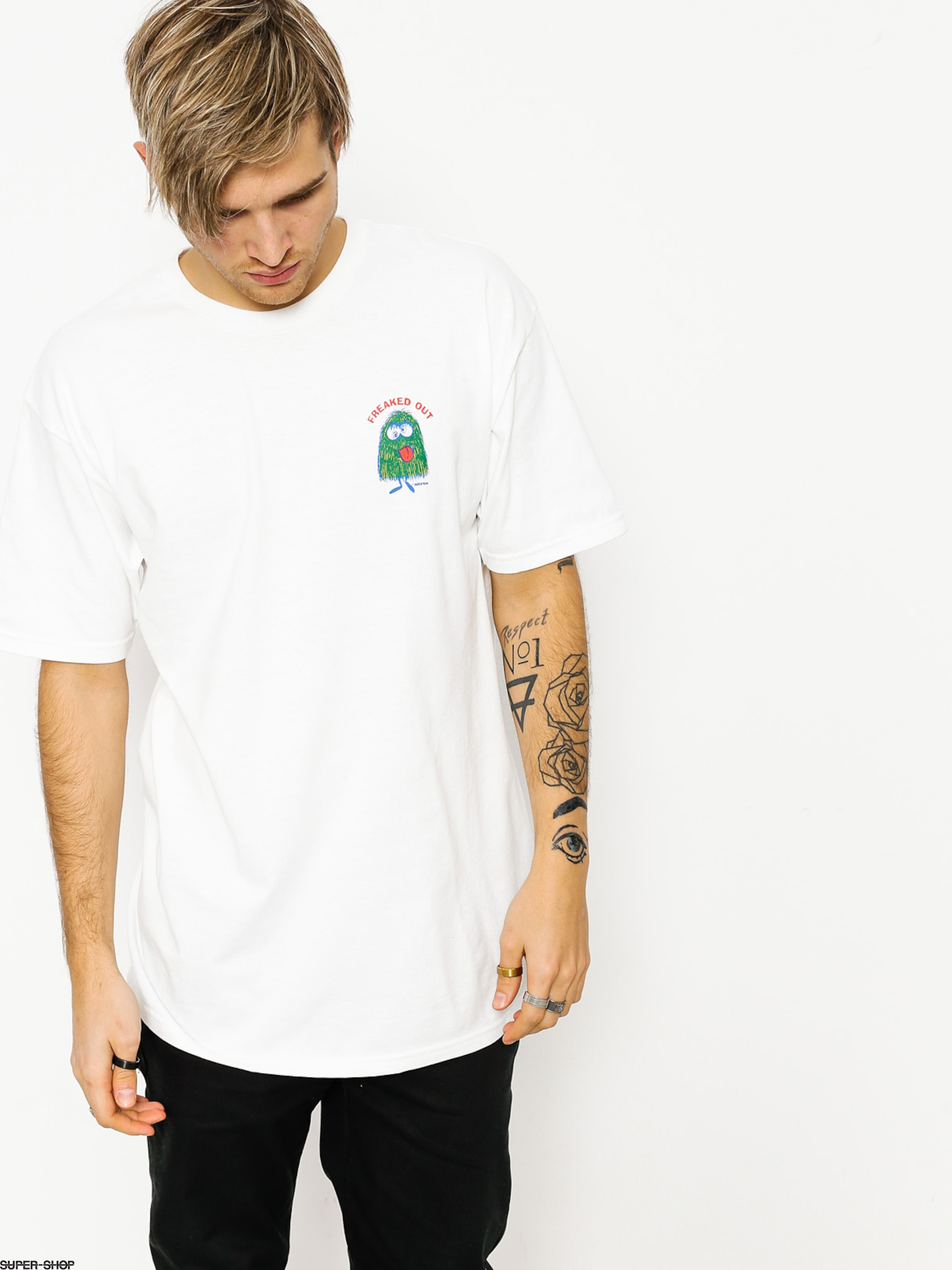 Brixton T-shirt Freaked Out Stt (white)