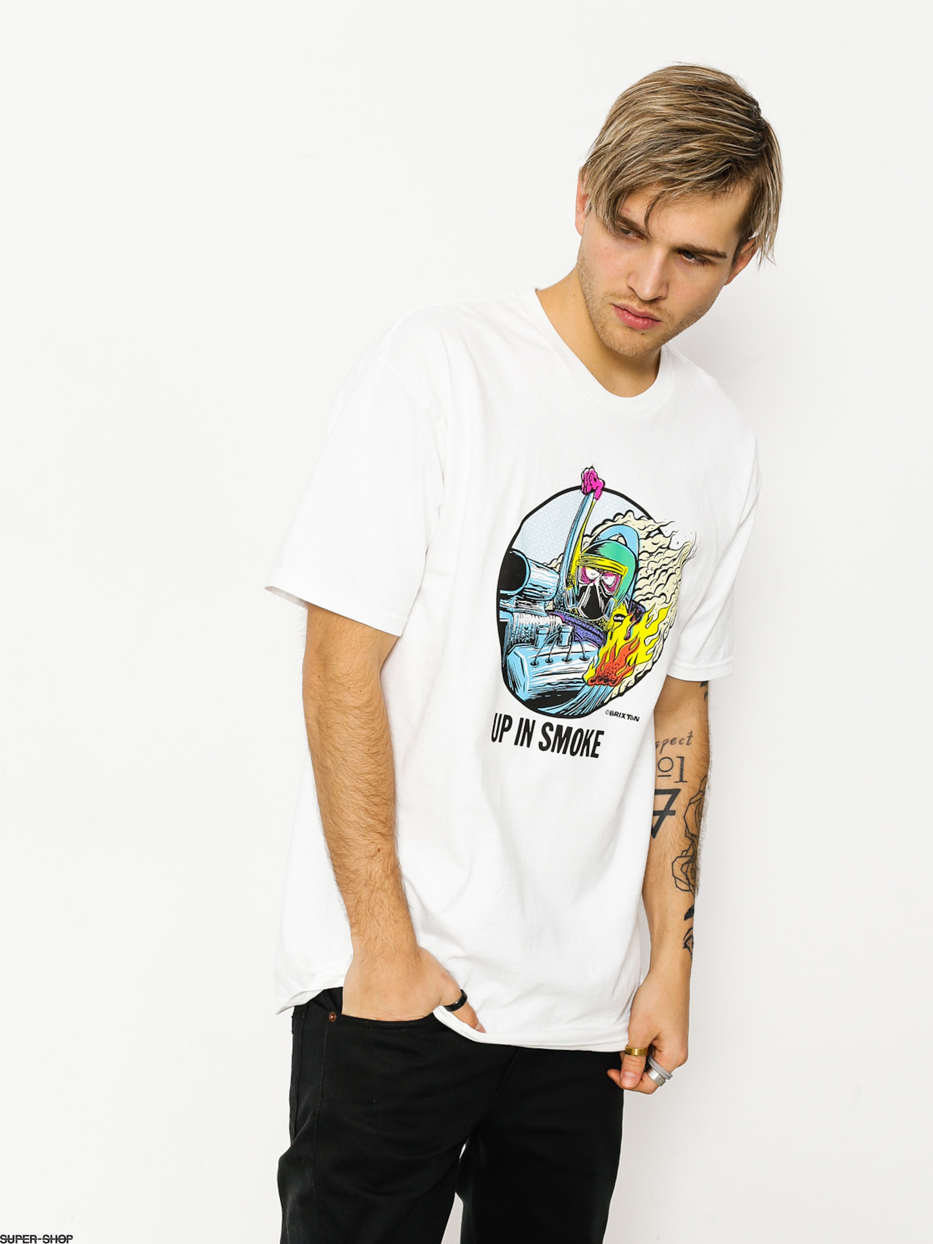 Brixton T-shirt Smoker Stt (white)