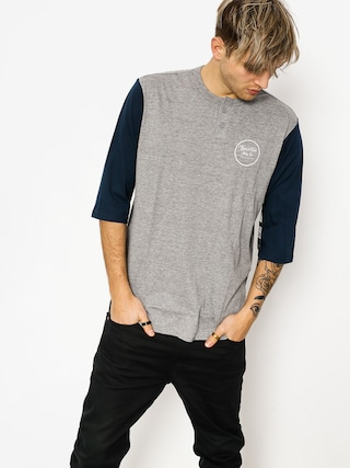 Brixton T-Shirt Wheeler 3/4 Slv Henley (heather grey/navy)