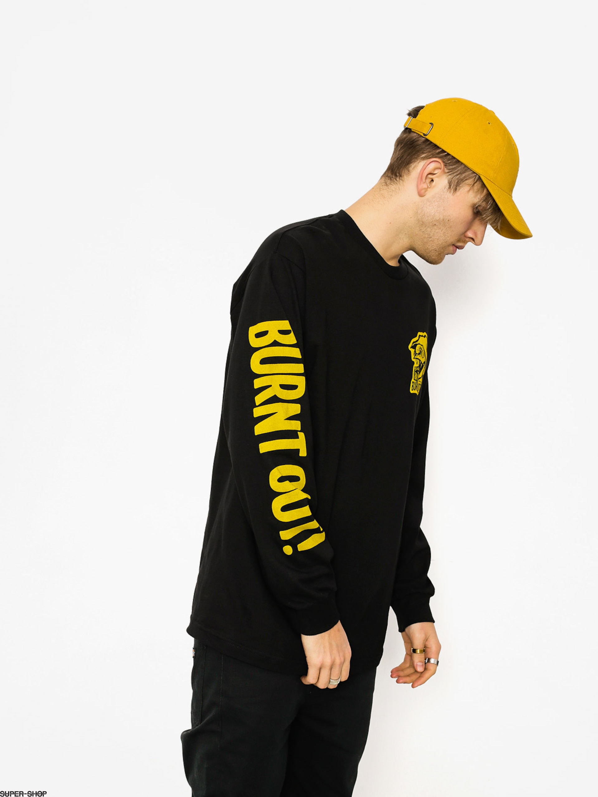 Brixton Longsleeve Burnt Out Stt (black)