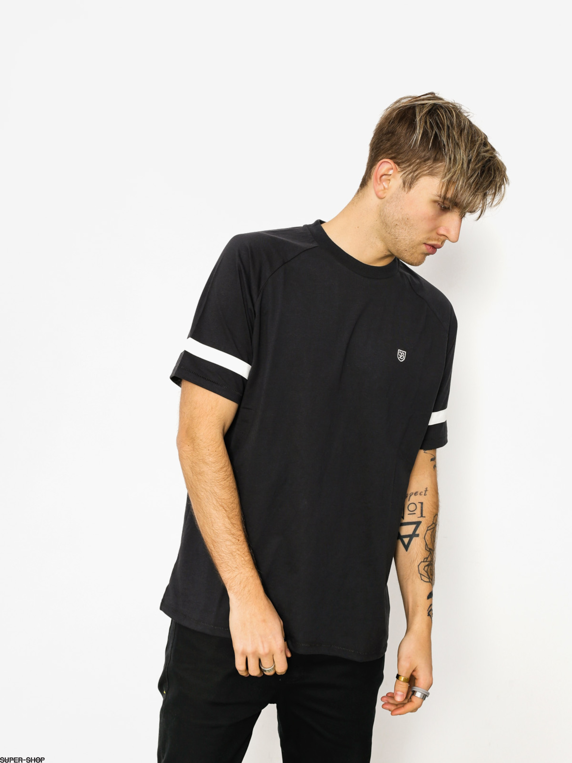 Brixton T-shirt Malden (washed black)