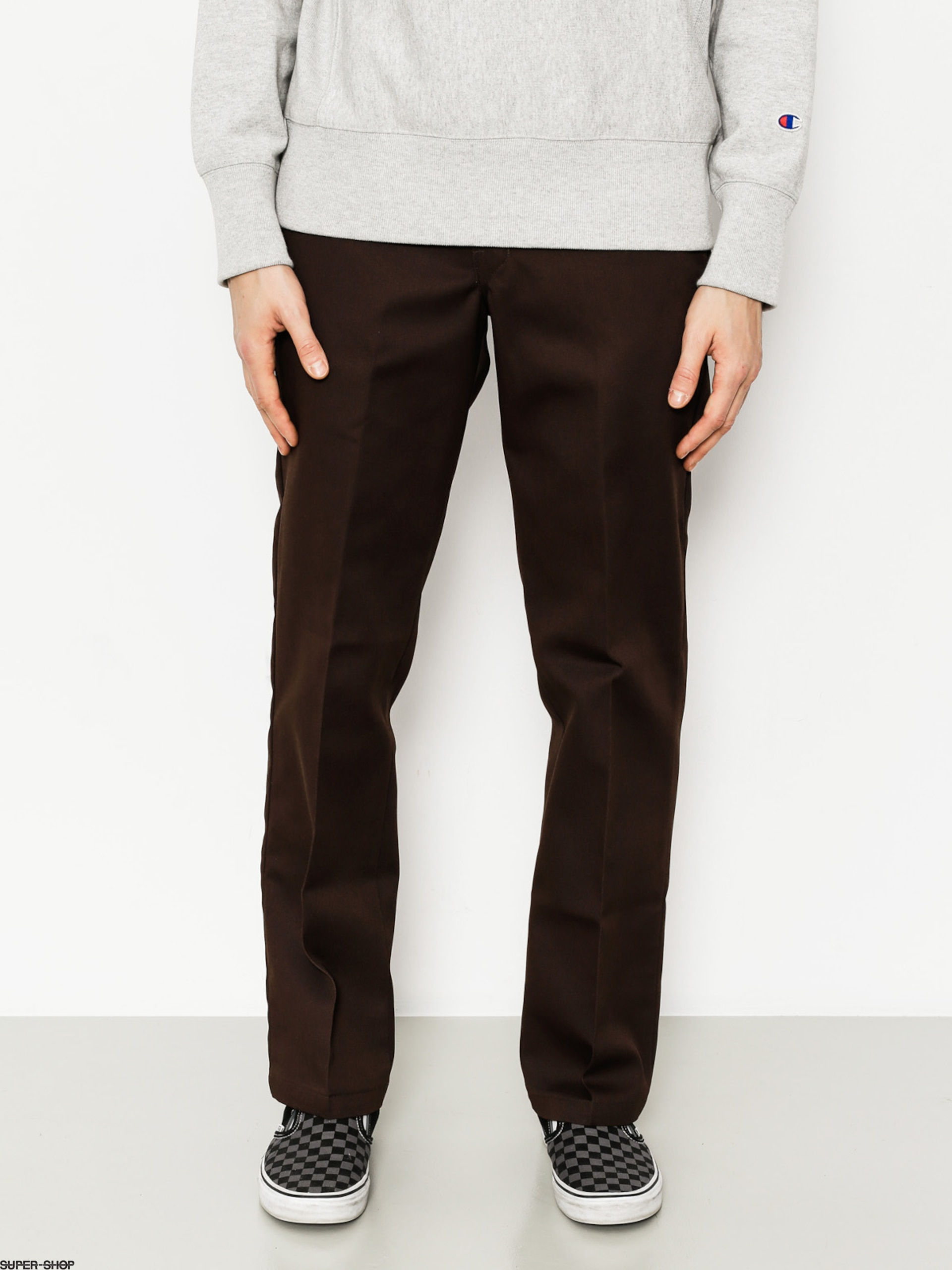 Dickies Hose WP873 Slim Straight Work Pant (chocolate brown)