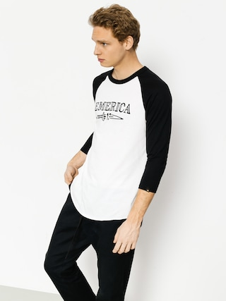 Emerica T-shirt Lucky Number Raglan (black/white)