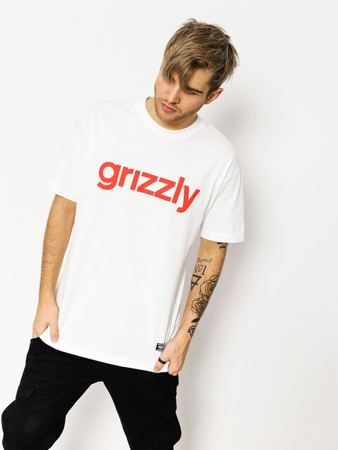 Grizzly Griptape T-shirt Lowercase (white/red)