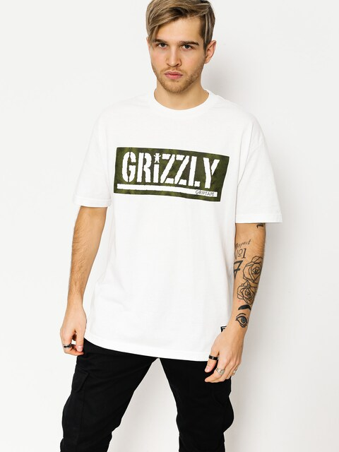 Grizzly Griptape T-shirt Forester Stamp (white)
