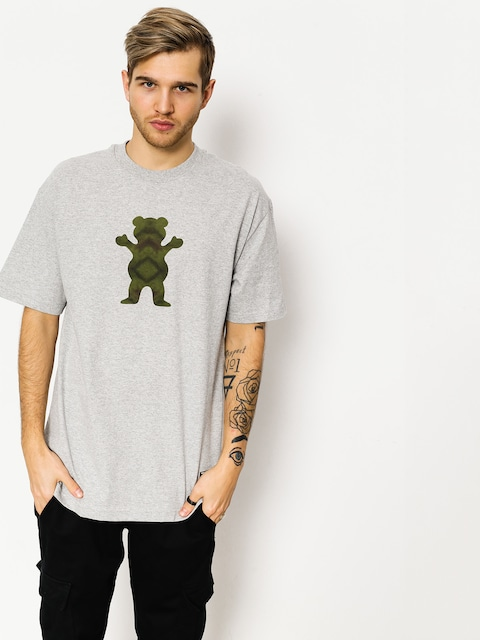 Grizzly Griptape T-shirt Forester Og Bear (heather)