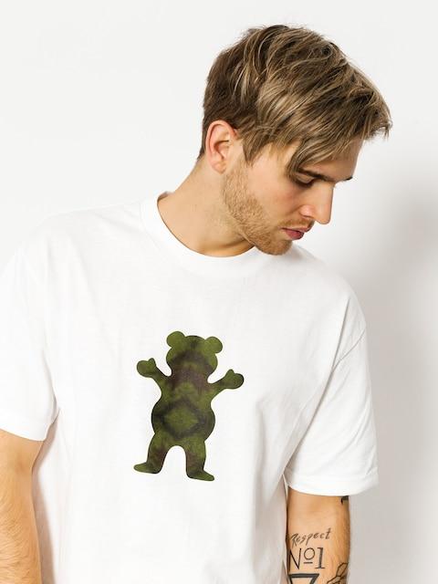 Grizzly Griptape T-Shirt Forester Og Bear (white)