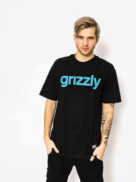 Grizzly Griptape T-shirt Lowercase (black/trq)