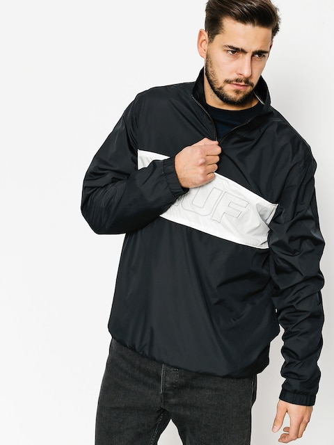 HUF Jacke Jacket Stadium Half Zip Track (black)