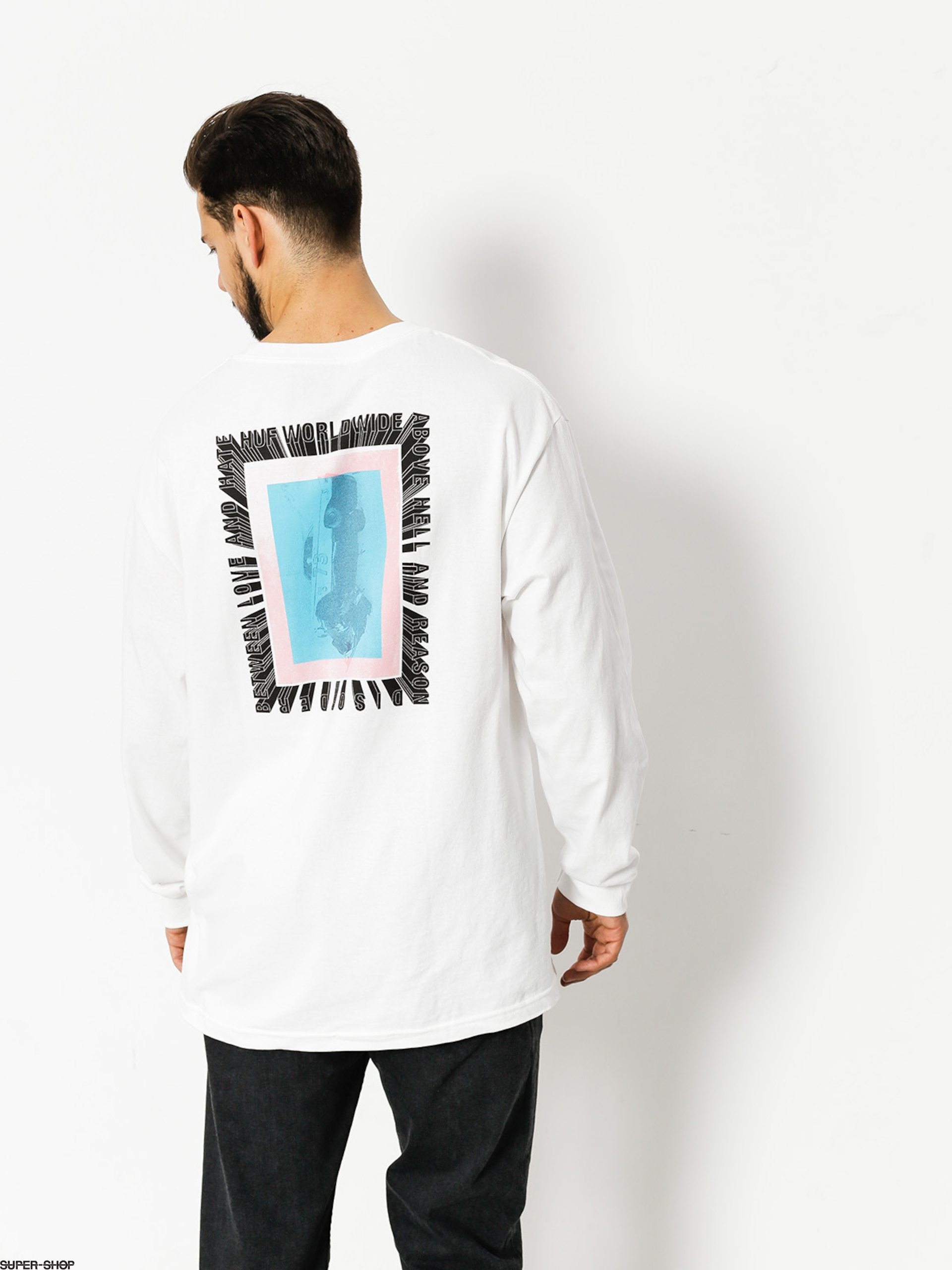 HUF Longsleeve Above Hell (white)